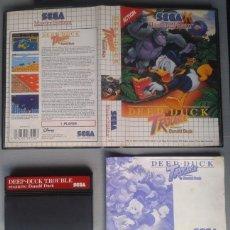Videojuegos y Consolas: SEGA MASTER SYSTEM DONALD DEEP DUCK TROUBLE CAJA Y MANUAL COMPLETO CIB BOXED PAL R10042. Lote 195185202