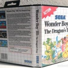 Videojuegos y Consolas: CARATULA WONDER BOY III: THE DRAGON'S TRAP REPRO SEGA MASTER SYSTEM. Lote 195207713