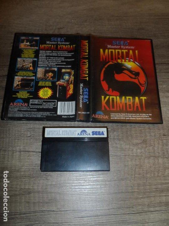 SEGA MASTER SYSTEM MORTAL KOMBAT PAL SIN MANUAL (Juguetes - Videojuegos y Consolas - Sega - Master System)