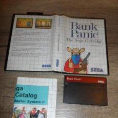 Videojuegos y Consolas: SEGA MASTER SYSTEM BANK PANIC PAL SIN MANUAL. Lote 197198283