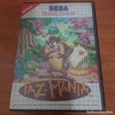 Videojuegos y Consolas: TAZ-MANIA MASTER SYSTEM SIN MANUAL. Lote 197992907