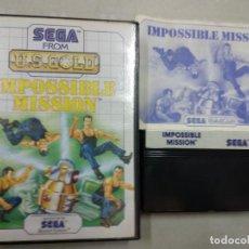 Videogiochi e Consoli: IMPOSSIBLE MISSION - SEGA MASTER SYSTEM MS. Lote 201499882