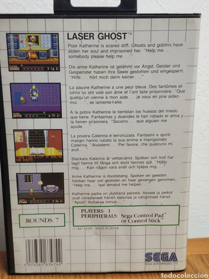 Videojuegos y Consolas: Juego sega master system laser ghost - Foto 4 - 202259227