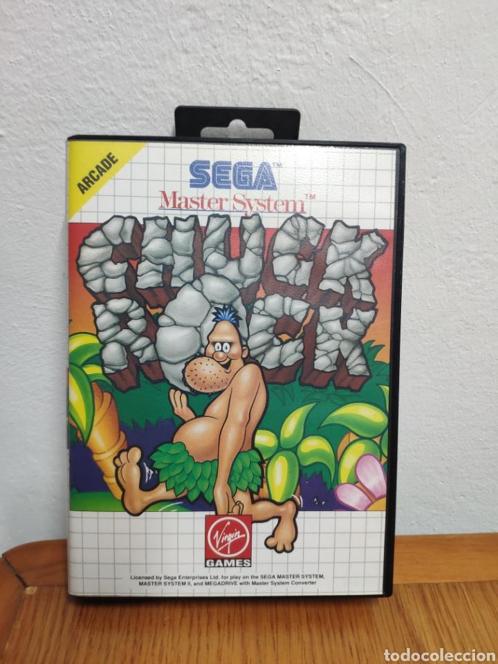 Videojuegos y Consolas: JUEGO COMPLETO CHUCK ROCK SEGA MASTER SYSTEM - Foto 2 - 202330900