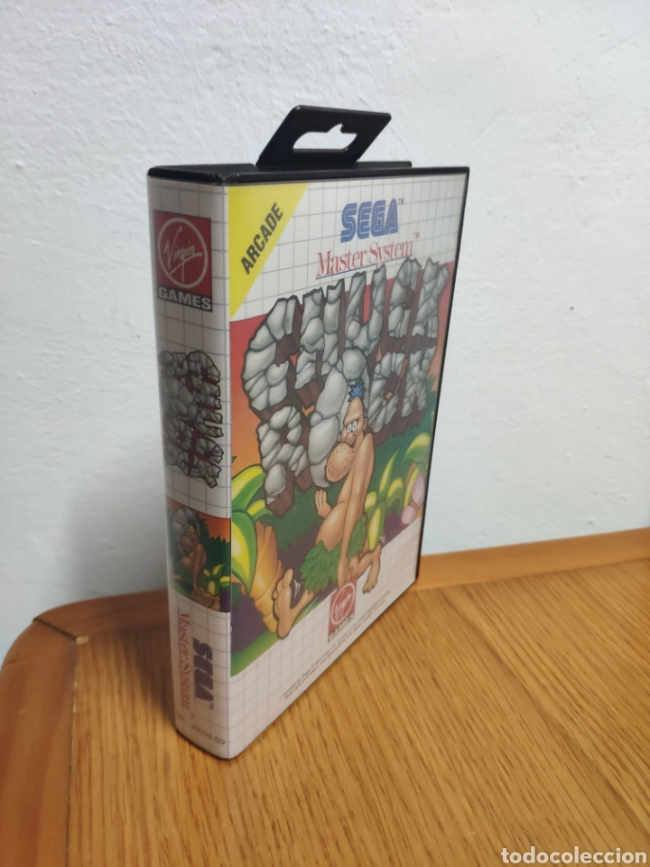 Videojuegos y Consolas: JUEGO COMPLETO CHUCK ROCK SEGA MASTER SYSTEM - Foto 3 - 202330900