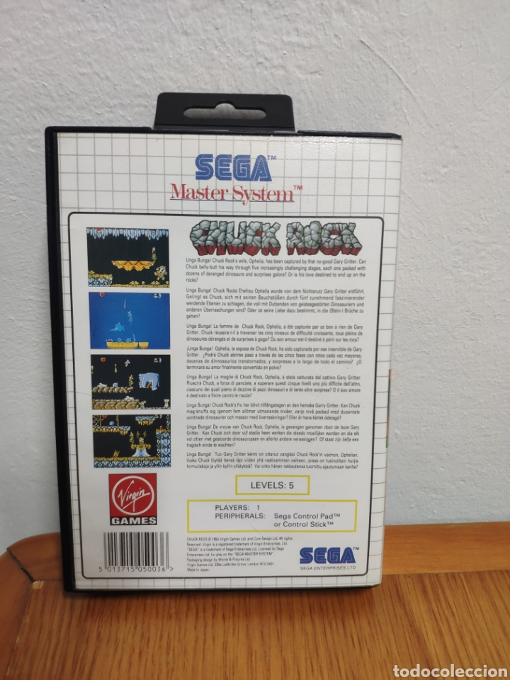 Videojuegos y Consolas: JUEGO COMPLETO CHUCK ROCK SEGA MASTER SYSTEM - Foto 4 - 202330900