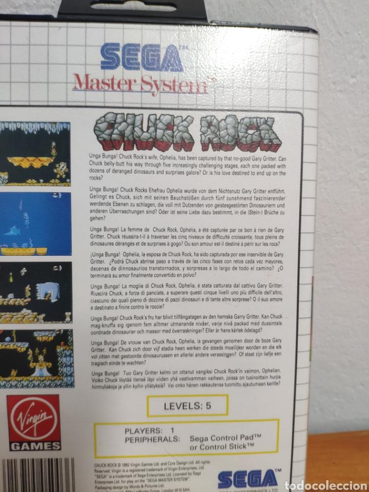 Videojuegos y Consolas: JUEGO COMPLETO CHUCK ROCK SEGA MASTER SYSTEM - Foto 5 - 202330900