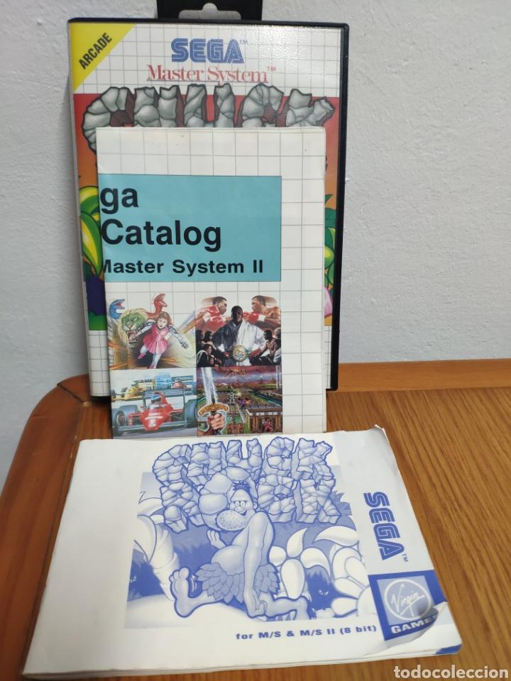 Videojuegos y Consolas: JUEGO COMPLETO CHUCK ROCK SEGA MASTER SYSTEM - Foto 8 - 202330900