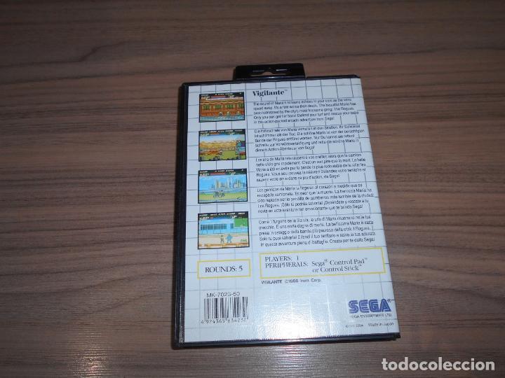 Videojuegos y Consolas: VIGILANTE Completo SEGA MASTER SYSTEM Como NUEVO - Foto 2 - 215646112