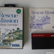Videojuegos y Consolas: RESCUE MISSION SEGA MASTER SYSTEM. Lote 203189583