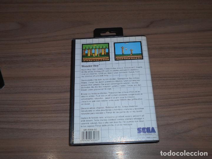 Videojuegos y Consolas: WONDER BOY Completo SEGA MASTER SYSTEM Pal España - Foto 2 - 203806002