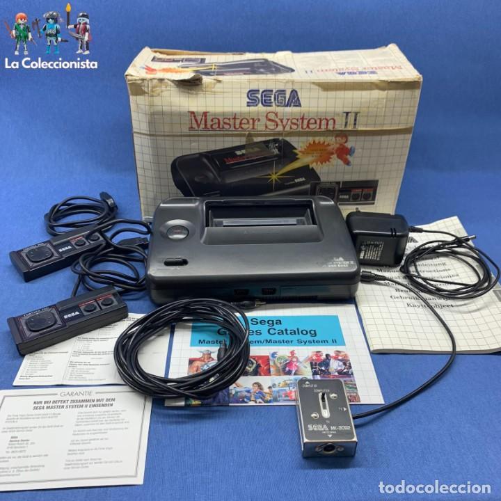 CONSOLA SEGA MASTER SYSTEM II + CAJA + 2 MANDOS + CABLES + CATÁLOGOS (Juguetes - Videojuegos y Consolas - Sega - Master System)
