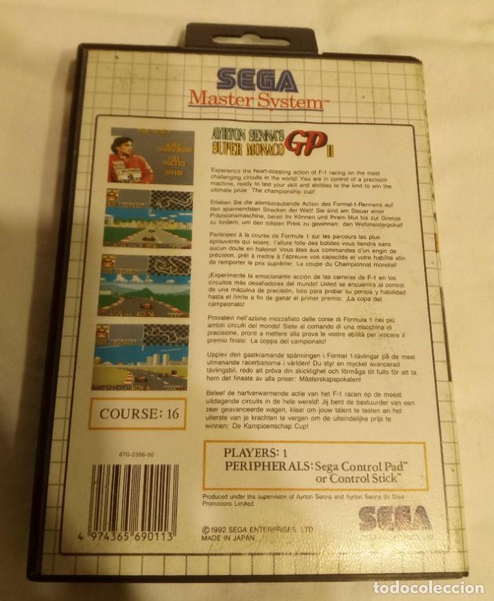 Videojuegos y Consolas: Juego para consola Sega Ayrton Senna 1992 - Foto 2 - 204207615