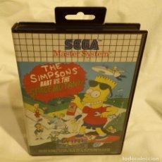 Videojuegos y Consolas: JUEGO PARA CONSOLA SEGA MASTER SYSTEM SIMPSONS 1991. Lote 204208010