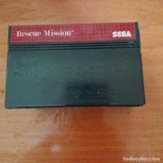 Videojuegos y Consolas: RESCUE MISSION MASTER SYSTEM CARTUCHO. Lote 205307515