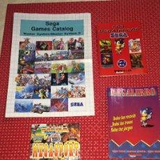 Videojuegos y Consolas: LOS MEGATRUCOS SEGA - LOTE 3 LIBRITOS Y 1 CATÁLOGO - AÑOS 90. Lote 205602851