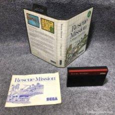 Videojuegos y Consolas: RESCUE MISSION SEGA MASTER SYSTEM. Lote 206498335