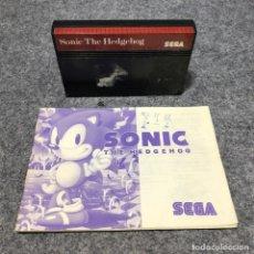Videojuegos y Consolas: SONIC THE HEDGEHOG CARTUCHO+MANUAL SEGA MASTER SYSTEM. Lote 206498343
