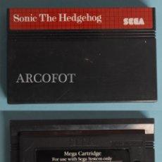 Videojuegos y Consolas: CARTUCHO DEL JUEGO SEGA MASTER SYSTEM - SONIC THE HEDGEHOG - EL DE LAS FOTOS. Lote 207228268