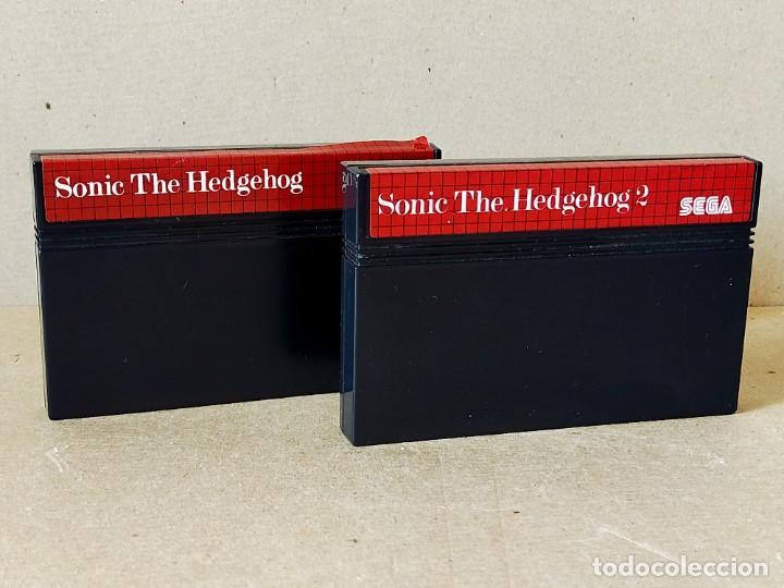 JUEGOS SEGA MASTER SYSTEM: SONIC THE HEDGEHOG Y SONIC THE HEDGEHOG 2 --- SOLO CARTUCHOS (Juguetes - Videojuegos y Consolas - Sega - Master System)