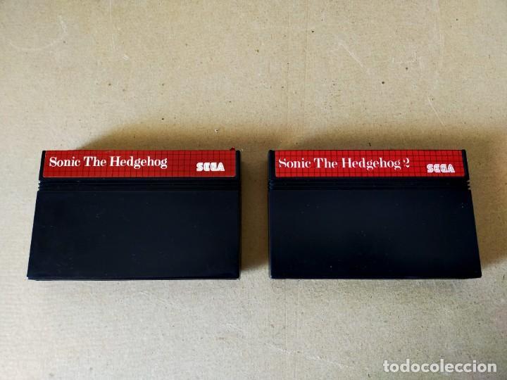 Videojuegos y Consolas: JUEGOS SEGA MASTER SYSTEM: SONIC THE HEDGEHOG Y SONIC THE HEDGEHOG 2 --- SOLO CARTUCHOS - Foto 2 - 211389407