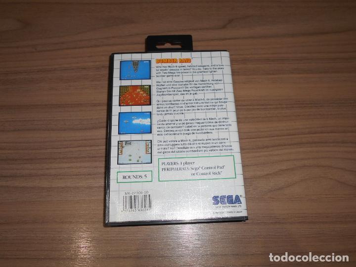 Videojuegos y Consolas: BOMBER RAID Completo SEGA MASTER SYSTEM Pal España COMO NUEVO - Foto 2 - 211776330