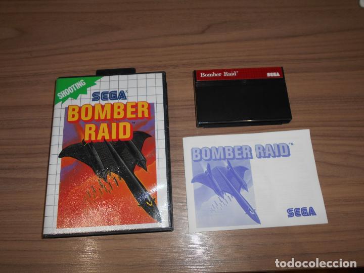 BOMBER RAID COMPLETO SEGA MASTER SYSTEM PAL ESPAÑA COMO NUEVO (Juguetes - Videojuegos y Consolas - Sega - Master System)