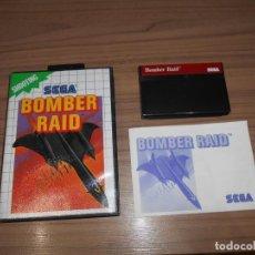 Videojuegos y Consolas: BOMBER RAID COMPLETO SEGA MASTER SYSTEM PAL ESPAÑA COMO NUEVO. Lote 211776330