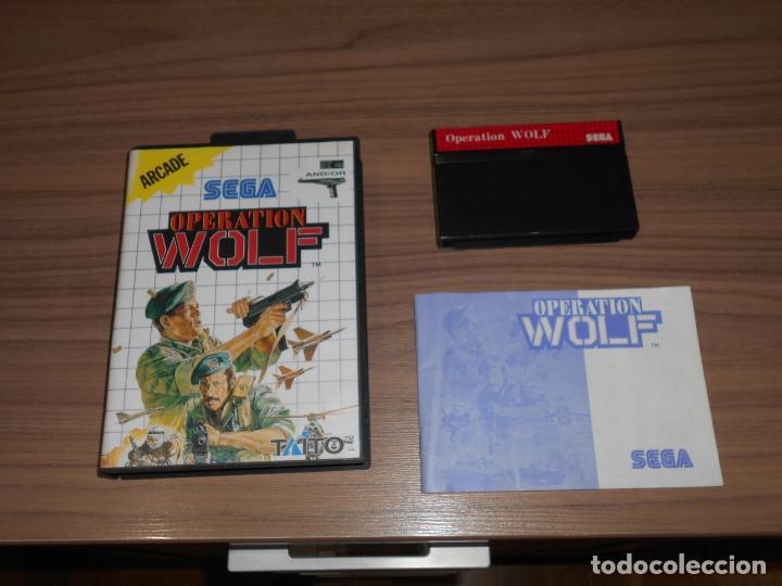 OPERATION WOLF COMPLETO SEGA MASTER SYTEM PAL ESPAÑA (Juguetes - Videojuegos y Consolas - Sega - Master System)