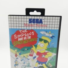 Videojuegos y Consolas: THE SIMPSONS BART VS. THE SPACE MUTANTS SEGA MASTER SYSTEM. Lote 217625555