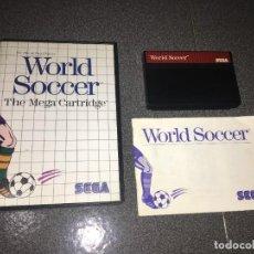 Videojuegos y Consolas: JUEGO WORLD SOCCER MASTER SYSTEM SEGA COMPLETO.. Lote 219619061