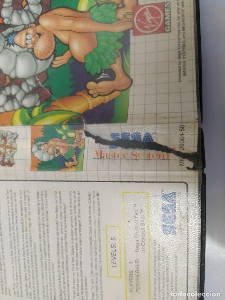 Videojuegos y Consolas: CHUCK ROCK SEGA MASTER SYSTEM PAL-EUROPE - Foto 2 - 220549228