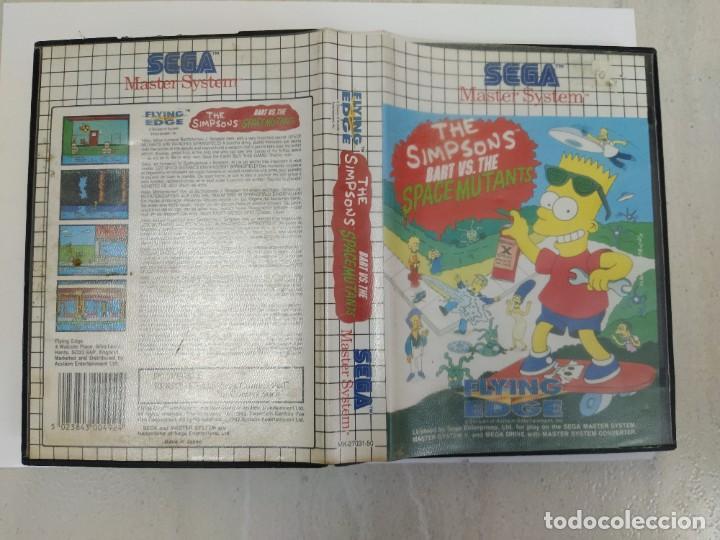 THE SIMPSONS BART VS THE SPACE MUTANTS SEGA MASTER SYSTEM PAL-EUROPE (Juguetes - Videojuegos y Consolas - Sega - Master System)