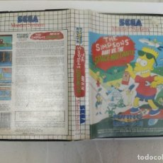 Videojuegos y Consolas: THE SIMPSONS BART VS THE SPACE MUTANTS SEGA MASTER SYSTEM PAL-EUROPE. Lote 220549815