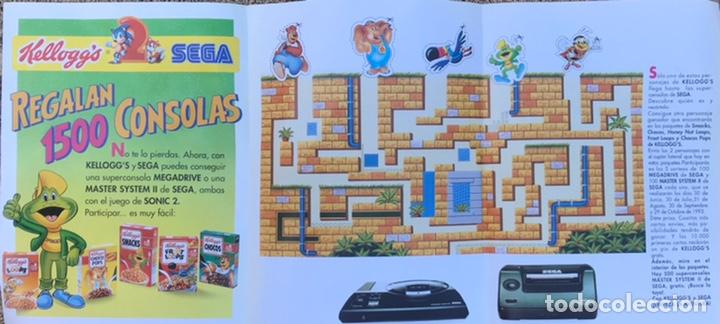 FOLLETO PUBLICITARIO REGALO 1500 CONSOLAS KELLOGGS SEGA MEGA DRIVE MASTER SYSTEM SONIC CROMOS 93 (Juguetes - Videojuegos y Consolas - Sega - Master System)