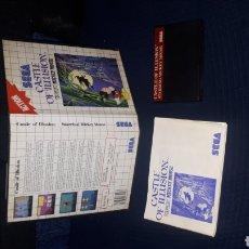 Videogiochi e Consoli: CASTLE OF ILUSION MICKEY MOUSE SEGA MASTER SYSTEM. Lote 220967753