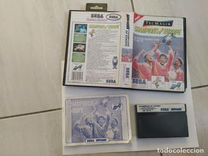 CHAMPIONS OF EUROPE SEGA MASTER SYSTEM COMPLETO PAL-EUROPA (Juguetes - Videojuegos y Consolas - Sega - Master System)