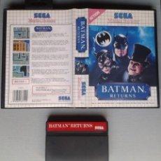 Videojuegos y Consolas: JUEGO SEGA MASTER SYSTEM BATMAN RETURNS INCLUYE CAJA BOXED PAL R11644. Lote 221659228