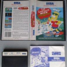 Videojuegos y Consolas: SEGA MASTER SYSTEM THE SIMPSONS BART VS SPACE MUTANTS COMPLETO BOXED CIB PAL R11645. Lote 221659738