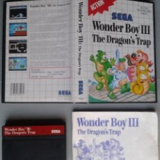 Videojuegos y Consolas: SEGA MASTER SYSTEM WONDER BOY III THE DRAGON´S TRAP COMPLETO BOXED CIB PAL R11646. Lote 221659813