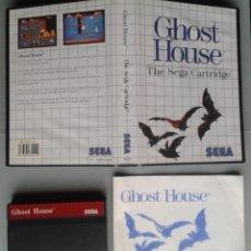Videojuegos y Consolas: SEGA MASTER SYSTEM GHOST HOUSE COMPLETO BOXED CIB PAL R11647. Lote 221659900