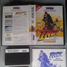 Videojuegos y Consolas: SEGA MASTER SYSTEM INDIANA JONES COMPLETO CAJA MANUAL + GAME CARD BOXED CIB PAL! R11651. Lote 221660296