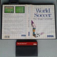 Videojuegos y Consolas: JUEGO SEGA MASTER SYSTEM WORLD SOCCER INCLUYE CAJA BOXED PAL R11652. Lote 221660361
