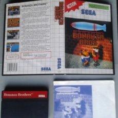 Videojuegos y Consolas: SEGA MASTER SYSTEM BONANZA BROS COMPLETO CON CAJA MANUAL BOXED CIB PAL! R11659. Lote 221661333