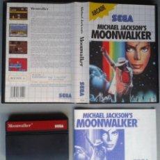 Videojuegos y Consolas: SEGA MASTER SYSTEM MICHAEL JACKSON MOONWALKER COMPLETO CAJA MANUAL BOXED CIB PAL R11669. Lote 221662002