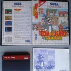 Videojuegos y Consolas: SEGA MASTER SYSTEM TOM & JERRY THE MOVIE COMPLETO CON CAJA MANUAL BOXED CIB PAL R11671. Lote 221662103