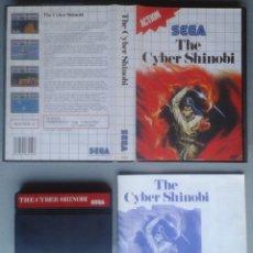 Videojuegos y Consolas: SEGA MASTER SYSTEM THE CYBER SHINOBI COMPLETO CON CAJA MANUAL BOXED CIB PAL R11685. Lote 221753061