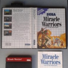 Videojuegos y Consolas: SEGA MASTER SYSTEM MIRACLE WARRIORS COMPLETO CON CAJA MANUAL BOXED CIB PAL R11693. Lote 221753568