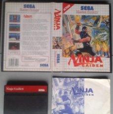 Videojuegos y Consolas: SEGA MASTER SYSTEM NINJA GAIDEN COMPLETO CON CAJA MANUAL BOXED CIB PAL R11694. Lote 221753621