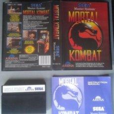 Videojuegos y Consolas: SEGA MASTER SYSTEM MORTAL KOMBAT COMPLETO CON CAJA MANUAL BOXED CIB PAL R11697. Lote 221753780